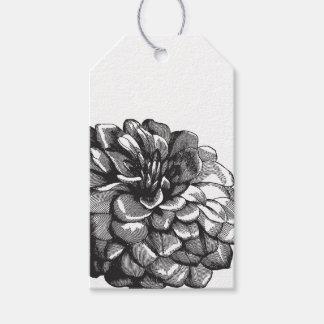 Vintage Marigold Floral Gift Tag