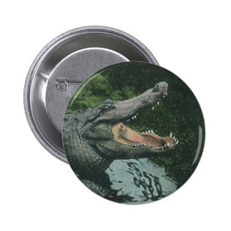 Vintage Marine Animal Life Reptiles, Crocodile 6 Cm Round Badge