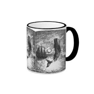 Vintage Marine Life Mammal, Sperm Whale Breaching Mugs
