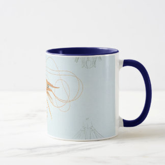 Vintage Marine Life Ocean Animals, Shrimp Anatomy Mug