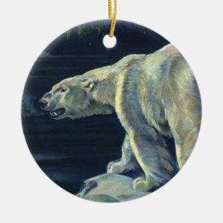 Vintage Marine Mammal, Polar Bear, Iceberg Arctic Ornament