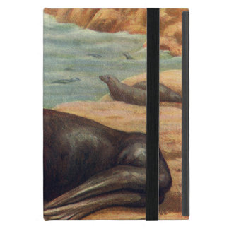 Vintage Marine Mammals, Sea Lion by the Seashore iPad Mini Cover
