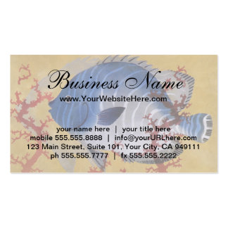 Vintage Marine Ocean Life Tropical Blue Fish Coral Pack Of Standard Business Cards