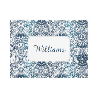 Vintage Marine Pattern | Add Your Name Doormat