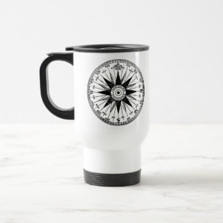 Vintage Mariner's Compass stainless steel travel m Stainless Steel Travel Mug