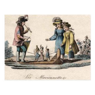 Vintage Marionette Puppet Show Post Cards