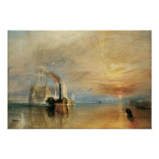 Vintage Maritime Art, Fighting Temeraire by Turner Poster