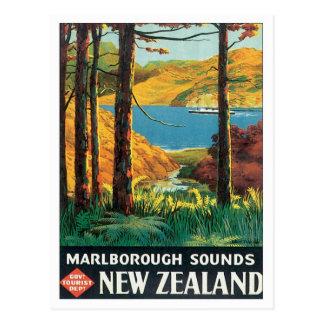 Vintage Marlborough Sounds New Zealand Postcard