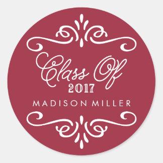 Vintage Maroon | Graduation Stickers