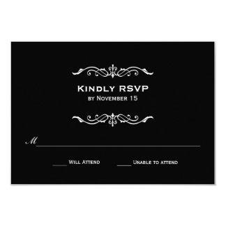 "Vintage Marquis Wedding RSVP 3.5"" X 5"" Invitation Card"