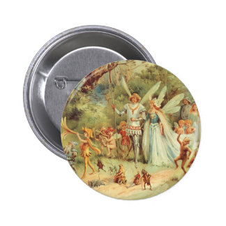 Vintage Marriage of Thumbelina and Prince 6 Cm Round Badge