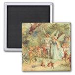 Vintage Marriage of Thumbelina and Prince Fridge Magnets