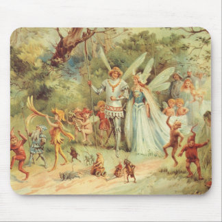 Vintage Marriage of Thumbelina and Prince Mouse Mat