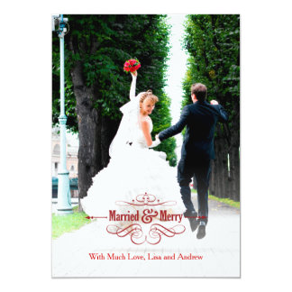 Vintage Married and Merry Holiday Card Groupon