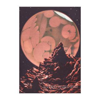 Vintage Mars Science Fiction Canals Canvas Print