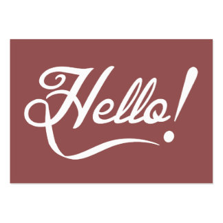 Vintage Marsala - Hello Pack Of Chubby Business Cards