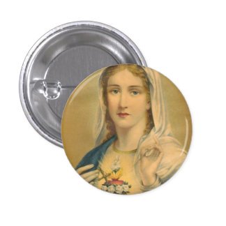 Vintage Mary Pinback Buttons