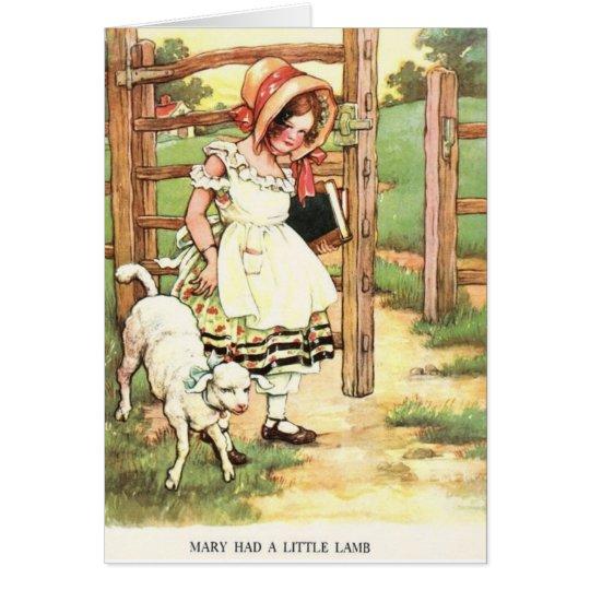 Vintage - Mary Had a Little Lamb, Card
