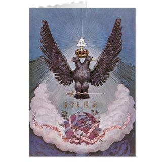 Vintage Masonic Print Card
