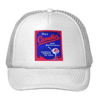 Vintage Matchbook Our Candies Ice Cream Fountain Trucker Hat