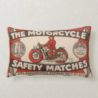Vintage matchbox cover lumbar cushion