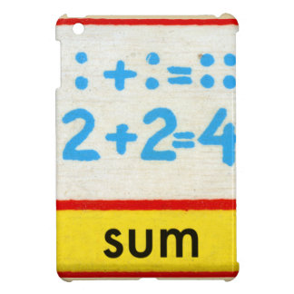 Vintage Math Kids Spelling Alphabet S is for Sum iPad Mini Cover