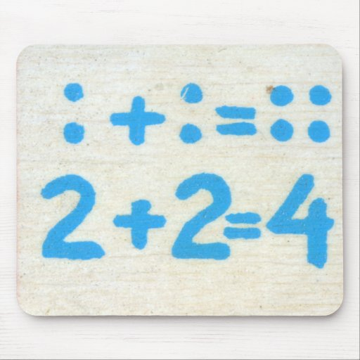 Vintage Math Kids Spelling Alphabet S is for Sum Mouse Pads