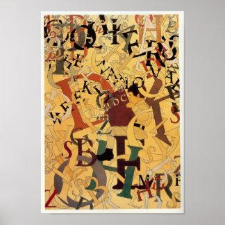 Vintage Maxfield Parrish Alphabet Poster