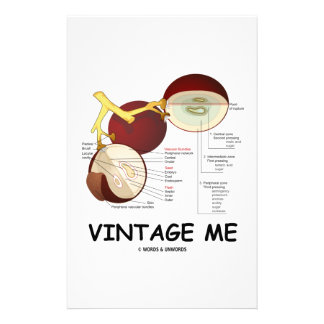 Vintage Me (Grape Berry) Personalized Stationery