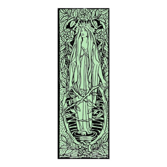 Vintage - Mediaeval Style Nature Spirit Poster