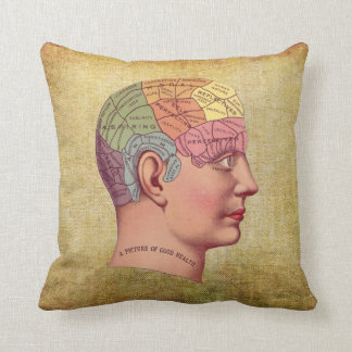 Vintage Medical Brain Anatomy Pillow