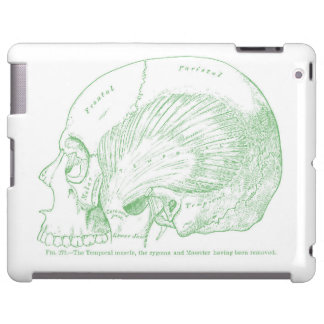 Vintage Medical Drawing Human Temporal Muscle iPad Case