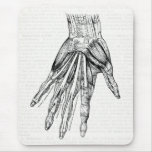 Vintage Medical Drawing Muscles of the Hand Mouse Pad