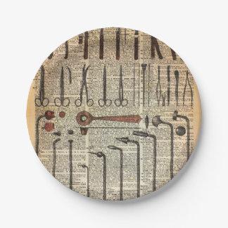 Vintage Medical Instruments Paper Plate
