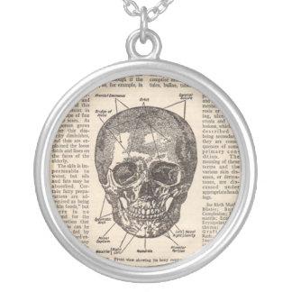 Vintage Medical Skull Book Necklace