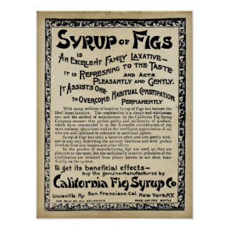 Vintage medicinal Print - Syrup Of Figs