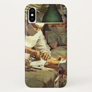 Vintage Medicine, Doctors Performing Surgery in ER iPhone X Case