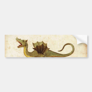 Vintage Medieval Dragon Design Bumper Sticker