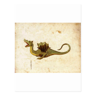 Vintage Medieval Dragon Design Postcard
