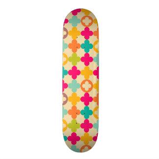 Vintage medieval rosette pattern 21.6 cm skateboard deck