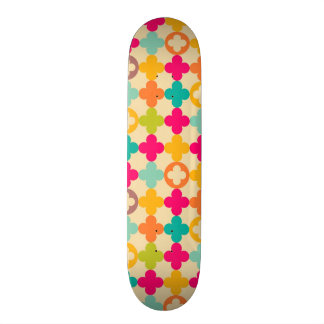 Vintage medieval rosette pattern custom skate board