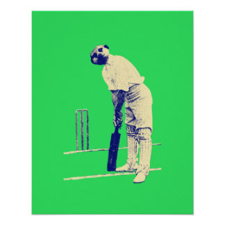 vintage meerkat cricketer poster