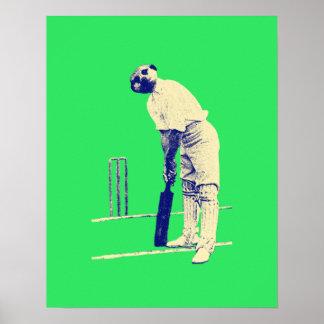 vintage meerkat cricketer posters