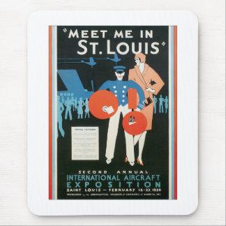 Vintage Meet Me In St.Louis Mouse Pad
