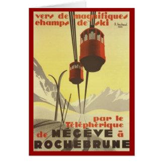 Vintage Mégève, Rhône-Alpes, France - Card