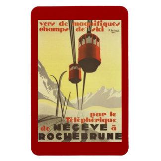 Vintage Mégève, Rhône-Alpes, France - Magnet