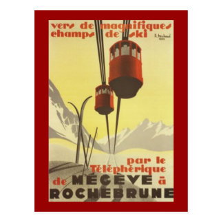 Vintage Mégève Rhône-Alpes France - Postcards