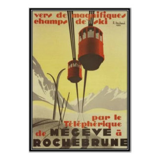 Vintage Mégève, Rhône-Alpes, France - Poster