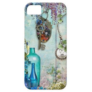 Vintage Memories Wisteria lavender cobalt blue key iPhone 5 Cover