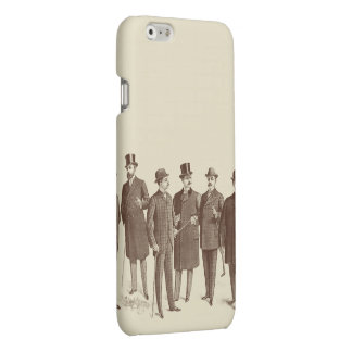 Vintage Men Gentlemen Fashion Brown Beige Cool iPhone 6 Plus Case